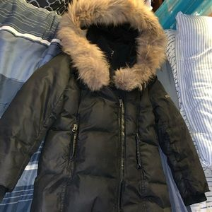 Big Girls Black Mackage Lee Lee Coat Size 8